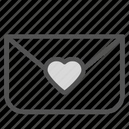 envelope, heart, letter, love, seal, sigil icon