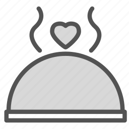 cover, dome, food, heart icon