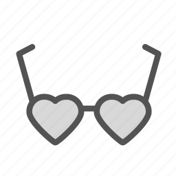 glasses, heart, love icon