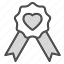 heart, love, mark, medal, ribbon icon
