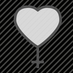 cross, heart, love, woman icon