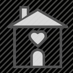 heart, home, house, love icon