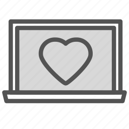 frame, heart, love, photo, picture icon