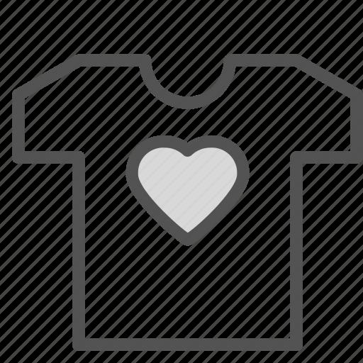 clothes, heart, love, tshirt icon