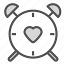 clock, heart, love, time, watch icon