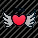 angel, heart, love, romance, valentine, wedding, wings