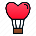 balloon, heart, hot, love, romance, valentine, wedding icon