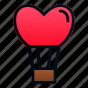 balloon, heart, hot, love, romance, valentine, wedding