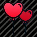 balloon, heart, helium, marriage, romance, valentine, wedding
