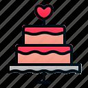 cake, love, marriage, romance, tart, valentine, wedding icon