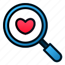 love, magnify, marriage, romance, search, valentine, wedding
