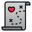 love, map, marriage, romance, treasure, valentine, wedding
