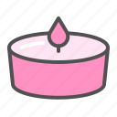 candle, heart, love, romance, romantic, valentine icon