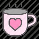 coffee, drink, love, romance, romantic, valentine