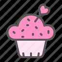 cupcake, dessert, food, love, romance, romantic, valentine icon