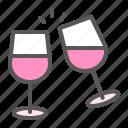 cheers, drink, love, romance, romantic, valentine, wine
