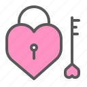 heart, lock, love, padlock, protection, romance, valentine icon