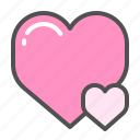heart, love, romance, romantic, valentine, valentines icon