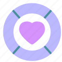 circle, heart, love, round icon