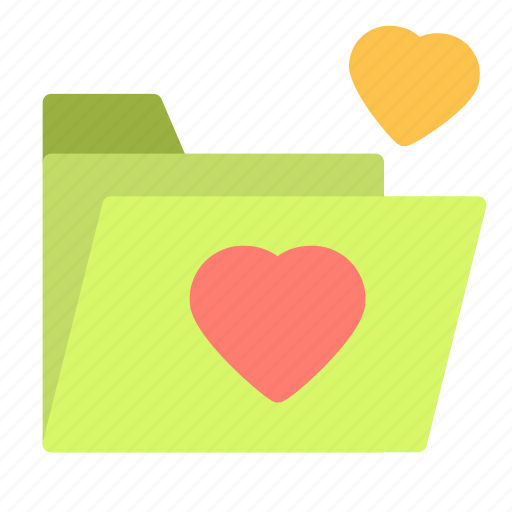 document, file, folder, heart, love icon