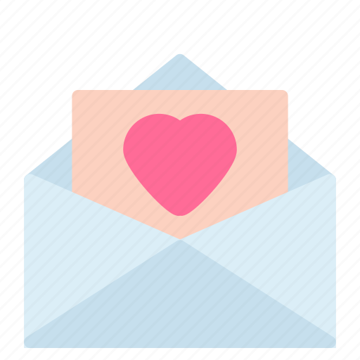 envelope, heart, letter, love icon