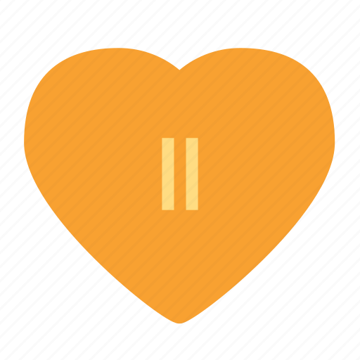 heart, love, pause, video icon