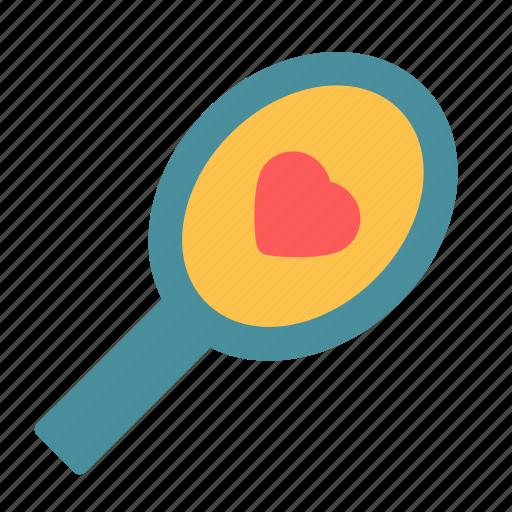 heart, love, mirror, reflection icon