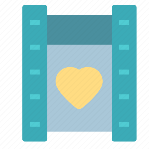 film, heart, love, movie, negative icon