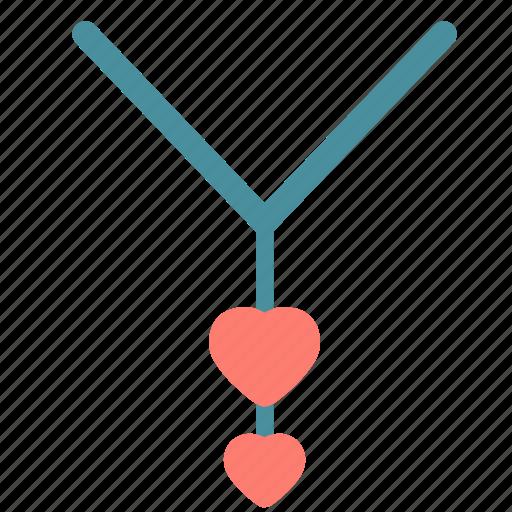 accessorie, heart, love, necklace, pendat icon