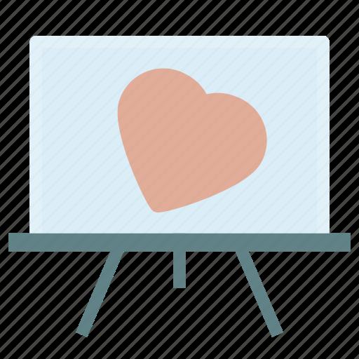 art, heart, love, painting icon