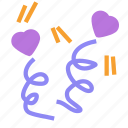 celebration, heart, love, party, valentine icon