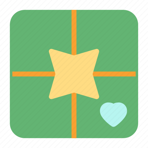 gift, heart, love, present icon