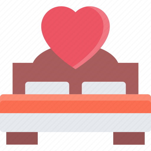 bed, couple, love, marriage, relationship, valentines day icon