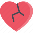broken, couple, heart, love, marriage, relationship, valentines day icon