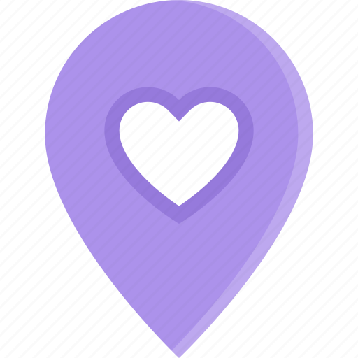 couple, date, location, love, marriage, relationship, valentines day icon