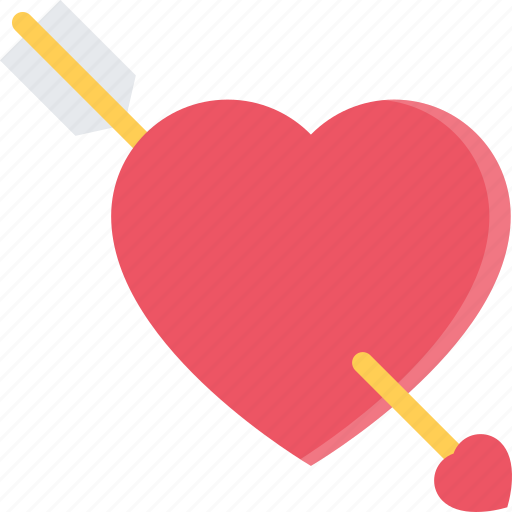 arrow, couple, heart, love, marriage, relationship, valentines day icon