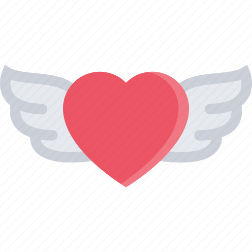 couple, heart, love, marriage, relationship, valentines day, wings icon
