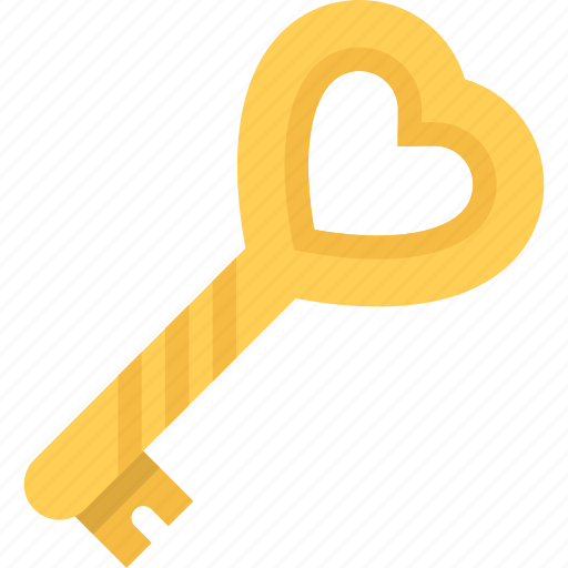 couple, key, love, marriage, relationship, valentines day icon