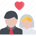 couple, love, marriage, newlyweds, relationship, valentines day icon