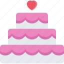 cake, couple, love, marriage, relationship, valentines day, wedding icon