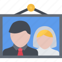 couple, love, marriage, photo, relationship, valentines day, wedding icon