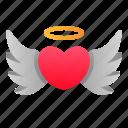 angel, heart, love, romance, valentine, wedding, wings icon