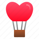 balloon, heart, hot, love, romance, valentine, wedding