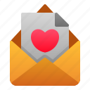 communication, invitation, love, mail, romance, valentine, wedding icon