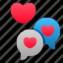 chat, love, message, romance, talk, valentine, wedding icon