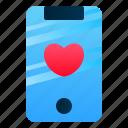 app, dating, love, romance, smartphone, valentine, wedding icon