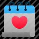 calendar, date, love, marriage, romance, valentine, wedding icon