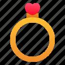 engagement, love, marriage, ring, romance, valentine, wedding icon