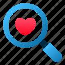 love, magnify, marriage, romance, search, valentine, wedding icon
