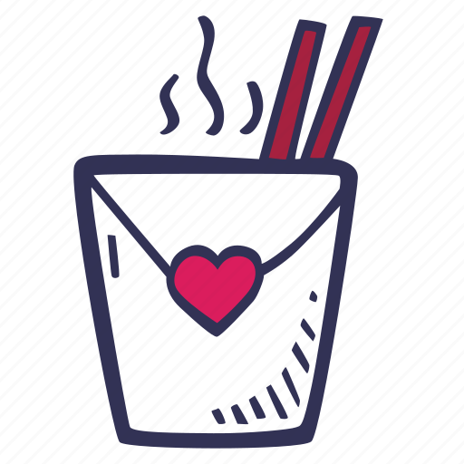 chinese, feelings, love, romantic, takeout, valentines, valentines day icon